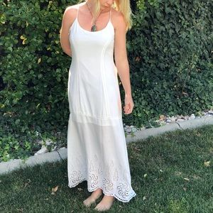 Lovestitch NWOT long white dress with embroidery